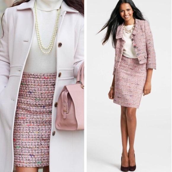 306405ae0b29f Ann Taylor Jackets   Blazers - Ann Taylor pink tweed suit